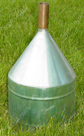 Stainless Steel Short Funnel with Copper Spout - item # E810030