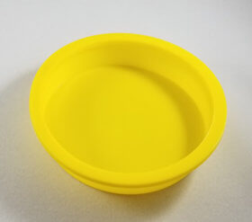 "Yellow Plastic Cap 4"" (5) Per Set - item # E300800"