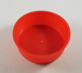 "Red Plastic Cap 3"" (5) Per Set - item # E300900"