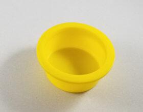 """Yellow Plastic Cap 2"""" (5) Per Set - item # E300901"""